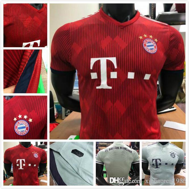 005f29215 2019 Player Version 2018 Bundesliga Bayern Munich Soccer Jersey James Home  Shirt 18 19 MULLER VIDAL LEWANDOWSKI ROBBEN TOLISSO Football Shirt From ...