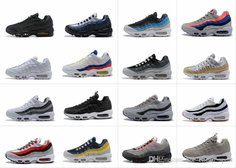 46253de362 2018 New Ultra 95 OG 20th Anniversary Men Running Shoes Triple Black White  Grey 95s Sports Sneakers Designer Air Mens Trainers Chaussures Barefoot  Running ...