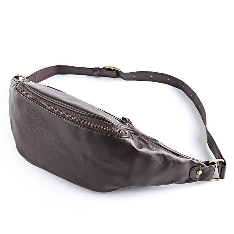 24a9836e5aa6 Good Quality High Quality Men Waist Pack Leather Retro Chest Bag Fanny Pack  For Men Shoulder Messenger Bag Belt Suede Phone Fashion Water Backpack For  ...