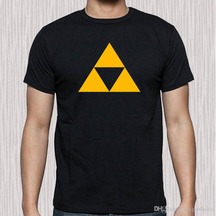 dc88fc3ec New Legend Of Zelda Triforce Famous Game Logo Men's Black T-Shirt Size S to  3XL