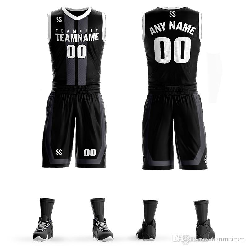 ac63bb077 2019 Cheap Men S Tracksuits DIY Basketball Uniform