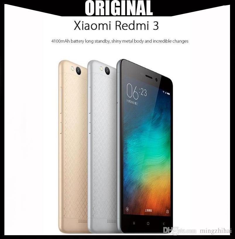 Original Xiaomi Redmi 3 4G LTE 4100mAh Battery 64-Bit Octa Core RAM 3GB ROM  32GB Android 5 1 MIUI 7 13MP Camera VS Xiaomi Redmi 3s
