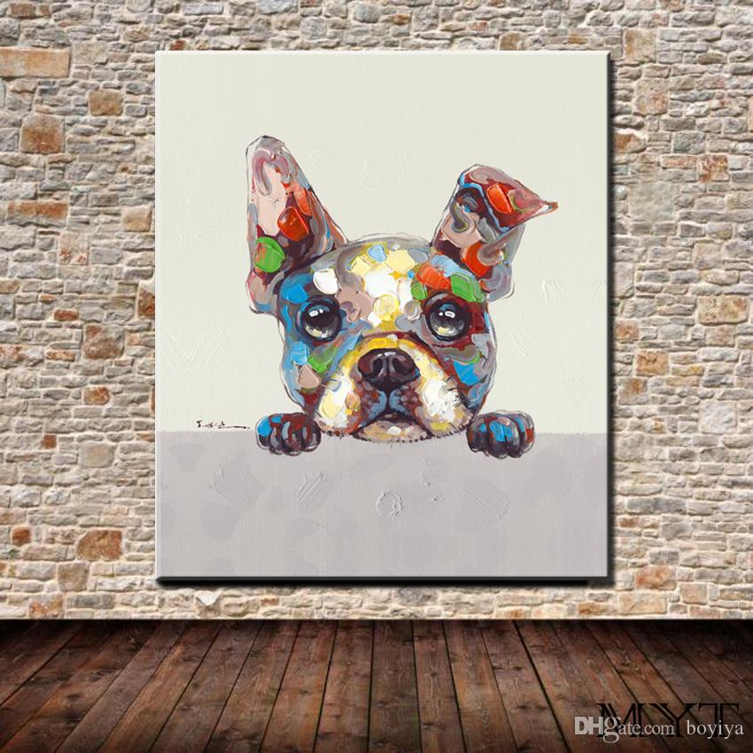 Hot sale cheap wall pictures HD printed animal color dog Wall art Picture Home Decor for Living Room on Canvas Printing no framed