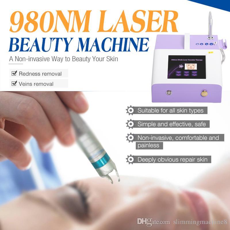 أفضل أجهزة الليزر 980nm ليزر ديود إزالة الأوعية الدموية 980 نانومتر الصمام الثنائي آلة الليزر العنكبوت المنوال إزالة 30W مع شهادة م