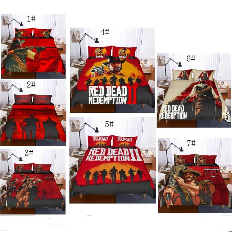 3D Red Dead Redemption 2 Design Bedding Set 2PC 3PC Duvet Cover Set Of Quilt Cover & Pillowcase Twin Full Queen King Size AU US GB Covers