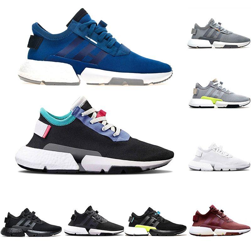 1fecf0e8 New P.O.D-S3.1 System Running Shoes Men Women Triple Black White ...