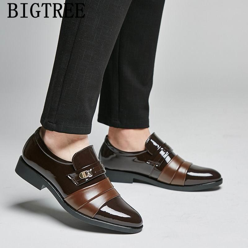 5185127c2b8 Italian Fashion Formal Shoes Men Dress Loafers Oxford Shoes for Men ...