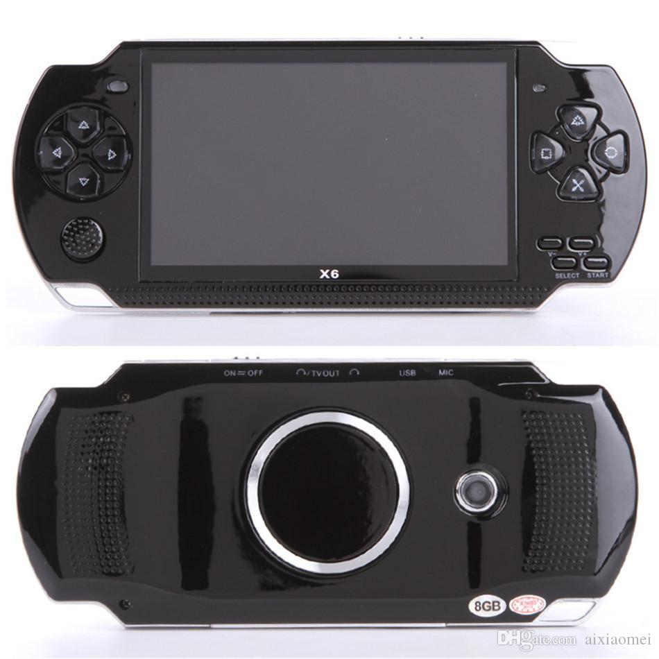 Schermo console di gioco portatile PMP X6 per PSP Game Store Giochi classici Uscita TV Riproduttore video portatile