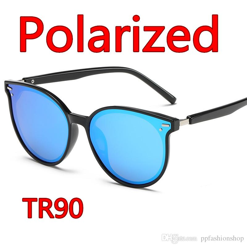 c5392f03da91a Compre Polarized TR90 Óculos De Sol Tendência Retro Óculos De Sol ...