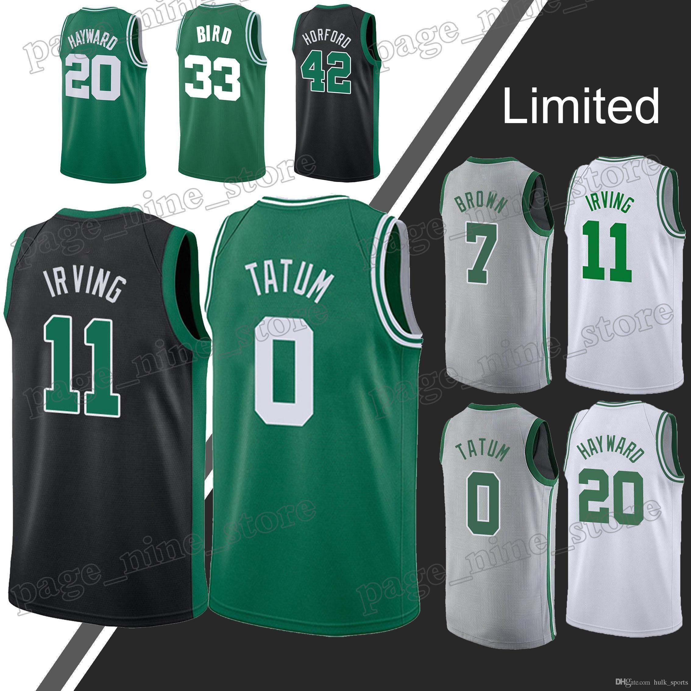 new styles 59137 1231d Boston jerseys Celtic Jayson 0 Tatum jersey 11 Irving Larry 33 Bird Gordon  20 Hayward jerseys