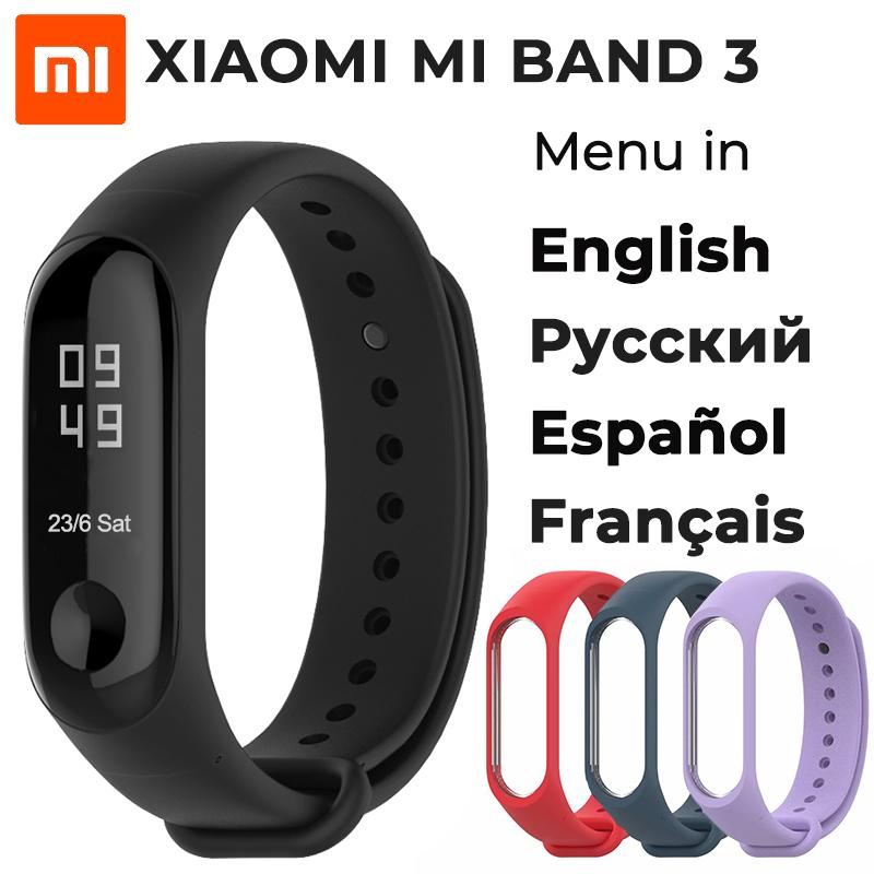Intelligente Elektronik Original Xiao Mi Mi Band 3 Nfc Version 0.78 oled Großen Touchscreen 2018 Neue Smart Armbänder Armband