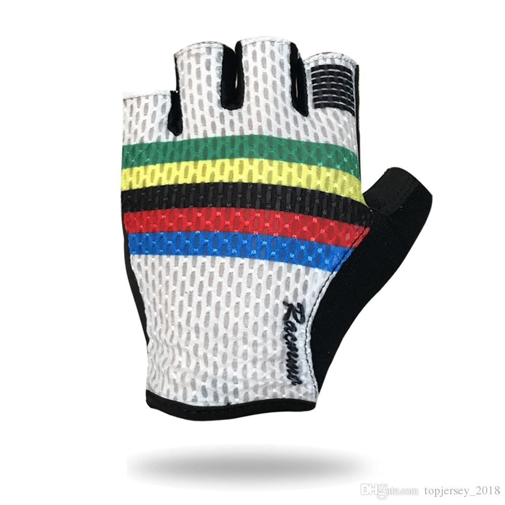Racmmer Cycling Gloves Half Finger Bike Bicycle Gloves Racing Biking Antiskid Gel Breathable Short Bike #SG-01 #292945