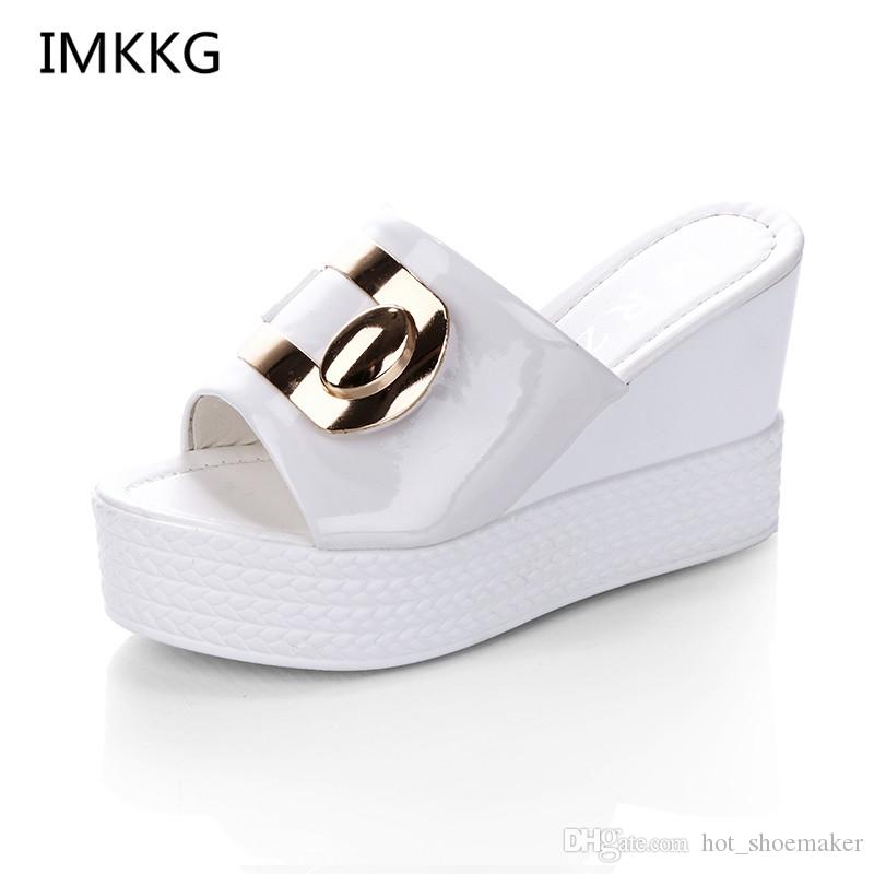 99ce74ed5221ca 2018 Summer New Style Arrived Sexy Platform Wedges Sandals Women Fashion  High Heels Female Slippers A634  10123 Summer Shoes Purple Shoes From  Hot shoemaker ...