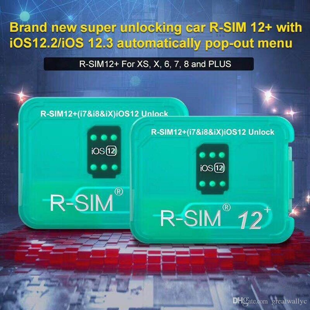 R-Sim12 + RSIM12 + Unlocking per Iphone XS X 8 7 Automaticamente pop-out Menu Unlocking per iOS 12.2-12.3 VS R-SIM 14