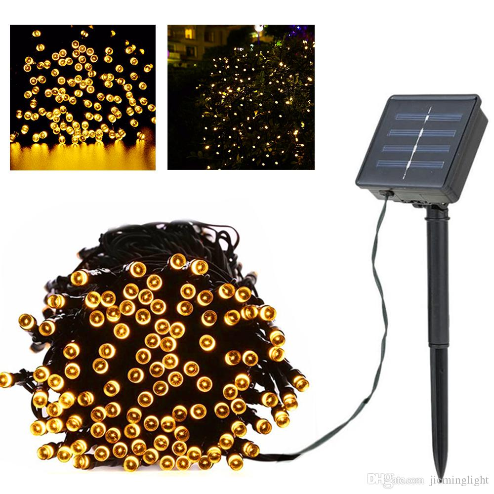 Lighting Strings 100 Led Outdoor Solar Lamps Led String Lights Fairy Holiday Christmas Party Garlands Solar Garden Waterproof Lights