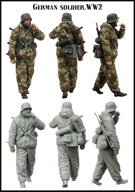 Compre Envío Gratis 1/35 Figuras De Resina Soldado Alemán Sin ...