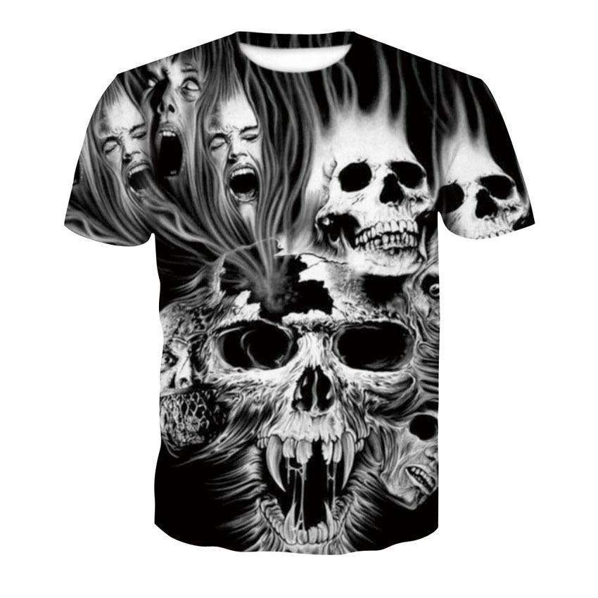 9ce77ef1a 2019 New Skull 3d T Shirt Summer Mens Fashion Tops Male Print Harajuku Wolf  Men Women Casual Anime T Shirts Dropshipping This T Shirt T Shirts Best  From ...
