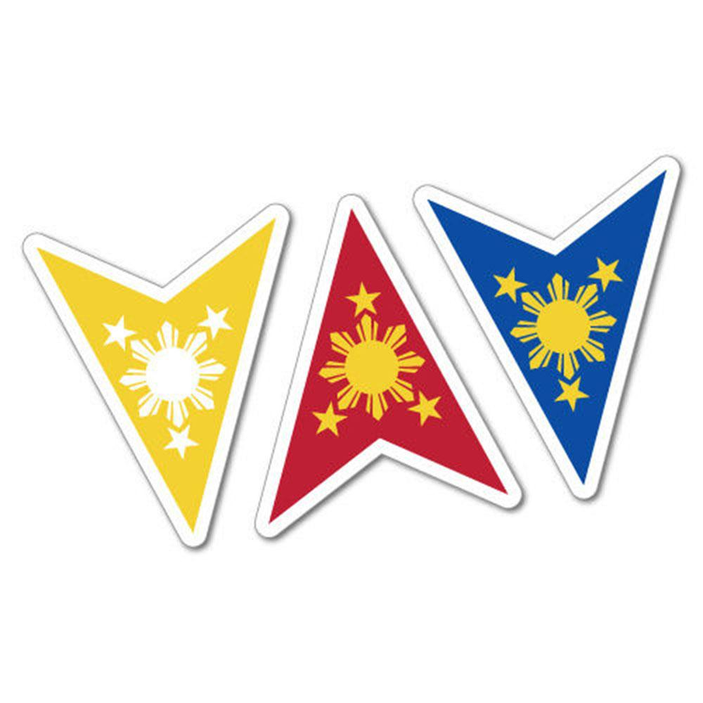 2019 philippine flag sun stars sticker flag bumper waterproof vinyl accessories decorative personality car decals from xymy797 2 32 dhgate com