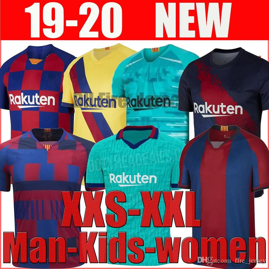 Barcelona Messi soccer jersey PIQUE ARTHUR VIDAL SUAREZ MESSI 2019 2020 football training shirt 19 20 uniforms men kids women jerseys