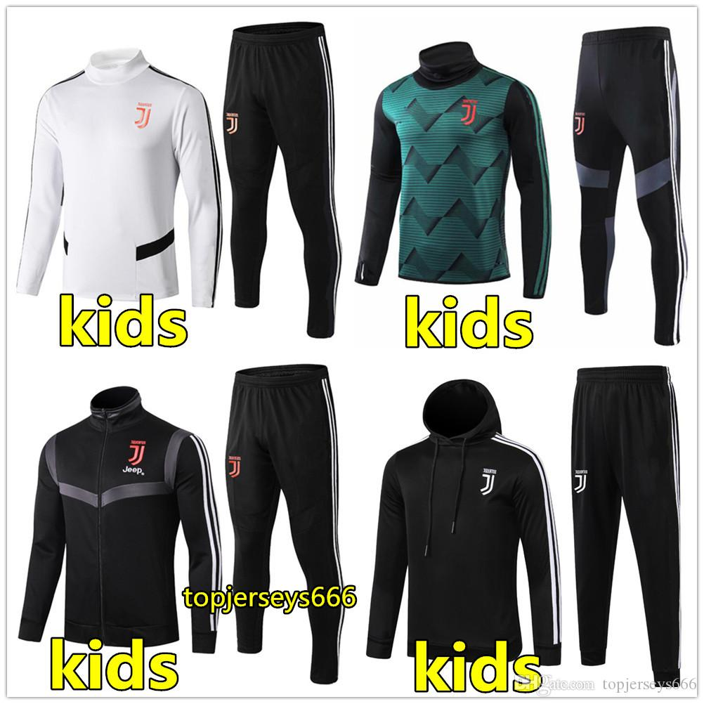 19 20 Juventus Enfants veste de survêtement de football veste à capuche 2019 2020 enfants survetement juventus RONALDO DYBALA DE LIGT vestes de football jogging