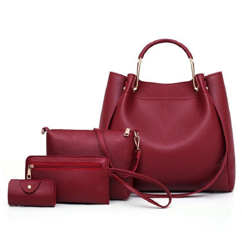 2f5e3e4750aa 2019 Fashion Women Leather Handbag Luxury Female Shoulder Bag Purse ...