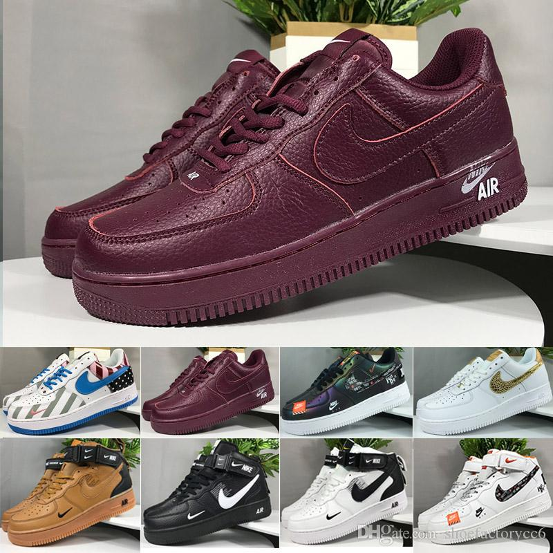 nike air force 1 one One 1 Dunk Uomo Donna Running Shoes Casual Sport Skateboarding High Low Cut Nero Bianco Wheat Cheap Trainer Sport Sneaker Taglia