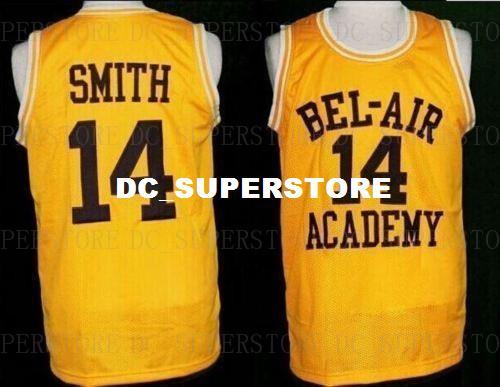 4e2190be06c1 2019 Cheap Custom The Fresh Prince Of Bel Air Jersey  14 Will Smith Carlton  Banks Academy Yellow Stitch Customize Any Number Name MEN WOMEN YOUTH From  ...