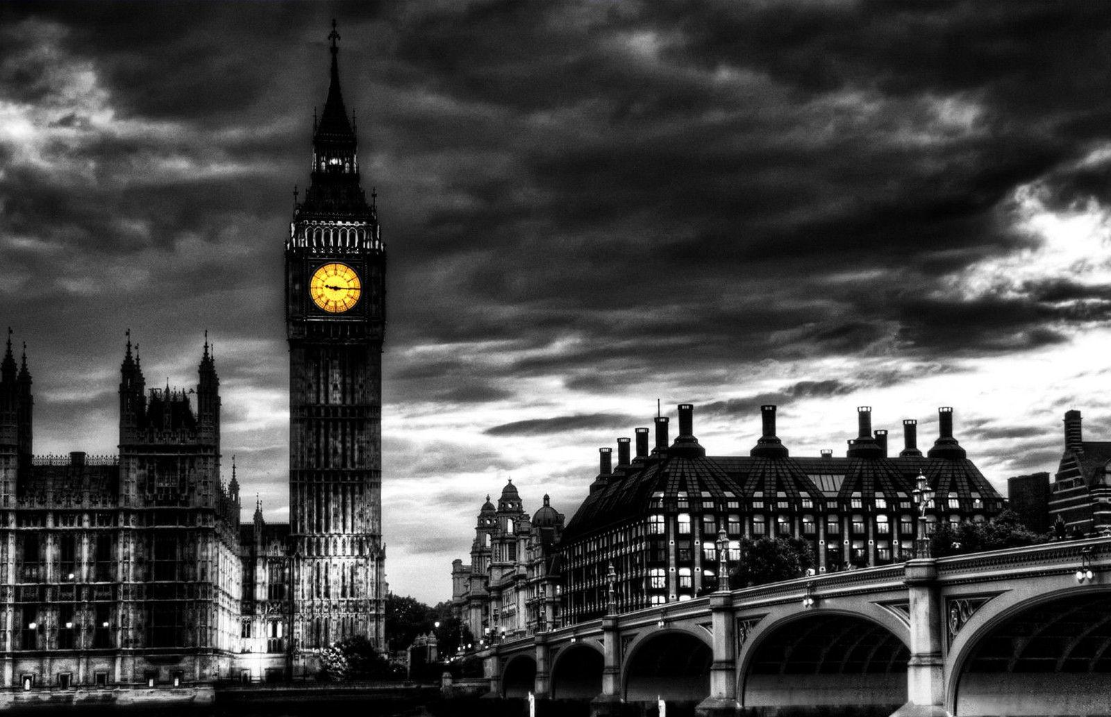 2019 black white london big ben with yellow clock face art silk print poster 24x36inch60x90cm 089 from chuy8988 10 93 dhgate com