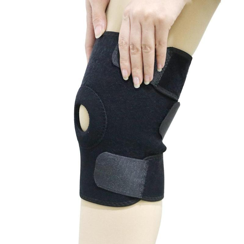 4430eda4f4 2019 Knee Brace With Metal Plate Support Professional Sports Safety Knee  Support Black Pad Guard Protector Strap From Jingtianwat, $35.75 |  DHgate.Com