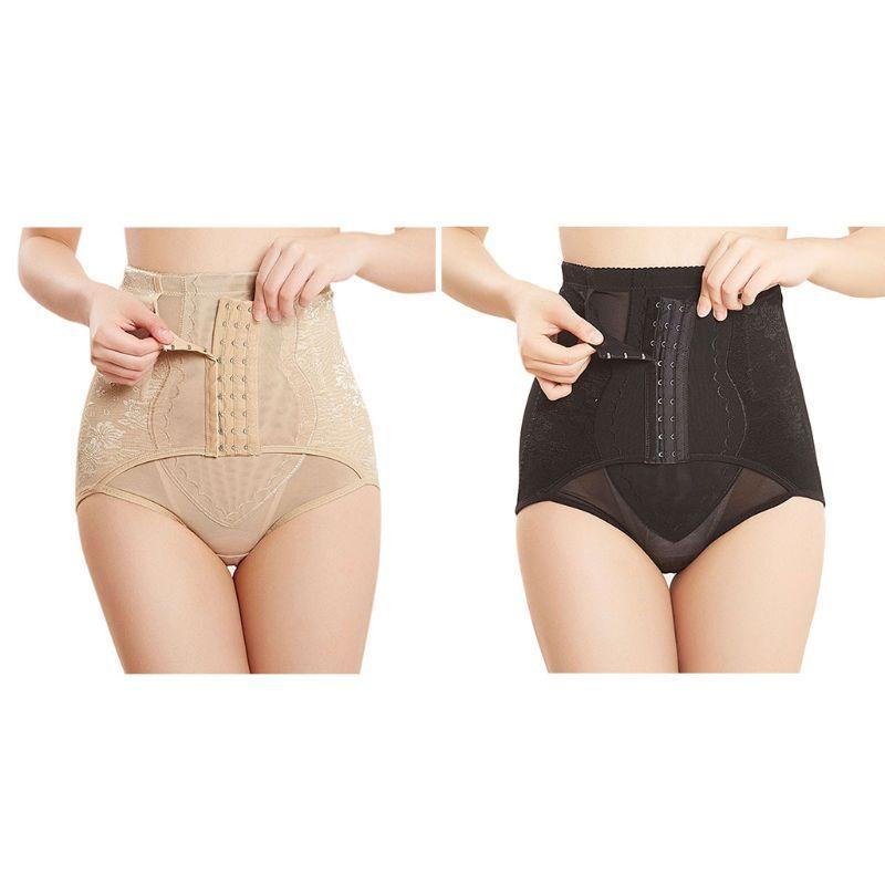 a216e798509 2019 Womens Plus Size Postpartum Corset Underwear High Waist Tummy Panties  Adjustable Hooks Printed Butt Lifter Body Shaper From Qackwang
