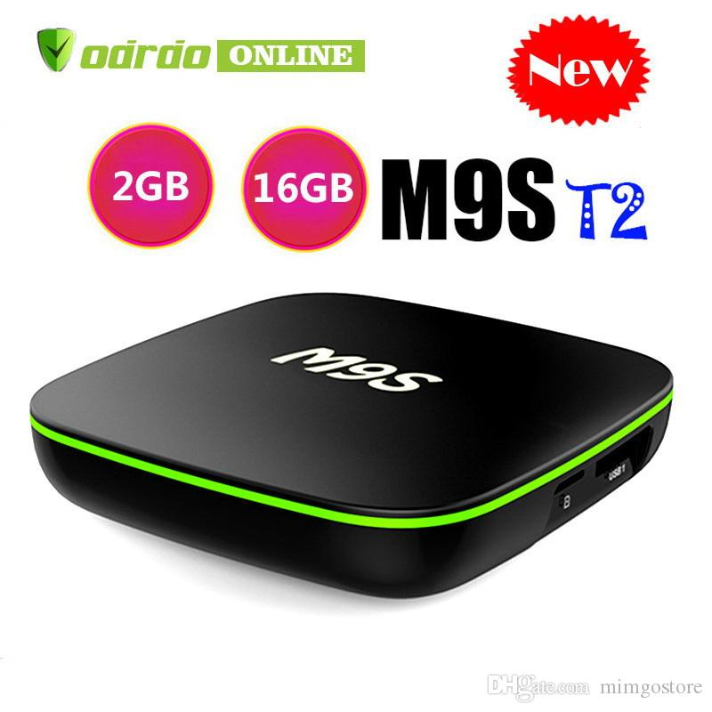M9S T2 Allwinner H3 Android TV Box 1GB 8GB 2GB 16GB Quad Core 100M Lan 2 4G  WiFi 4K VP9 HDR10 IPTV Smart media player BETTER X96 H96 TX3 X92