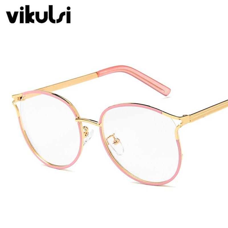 95d38d569ad2 2019 2019 Ladies Cat Eye Glasses Frames For Women Metal Frame Clear Glasses  UV400 Designer Optical Fashion Eyewear Computer From Taihangshan