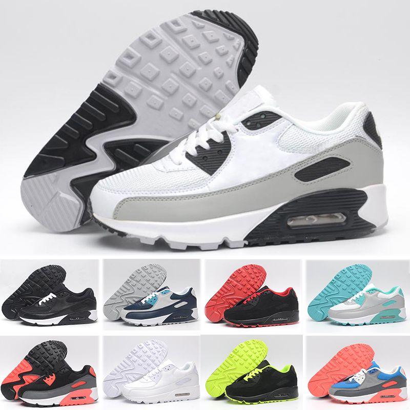 2019 Nike Air Max 90 Zapatos de hombre Clásicos 90 Hombres y mujer Zapatos Trainer Air Cushion Surface Casual Shoes 36 45