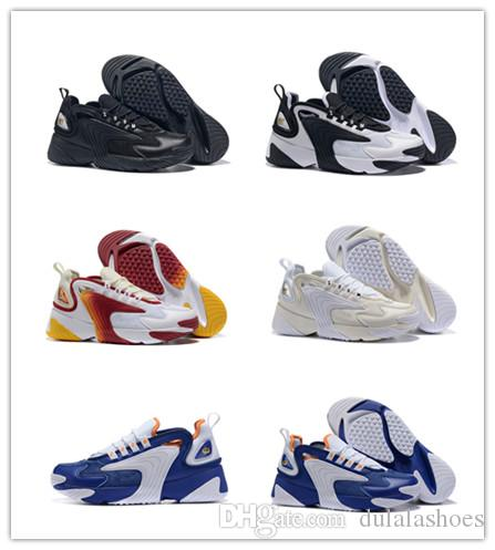 M2k Tekno Zoom 2K ZM 2000 Men Lifestyle Outdoor Shoes Black White Blue Orange Size US 7-12