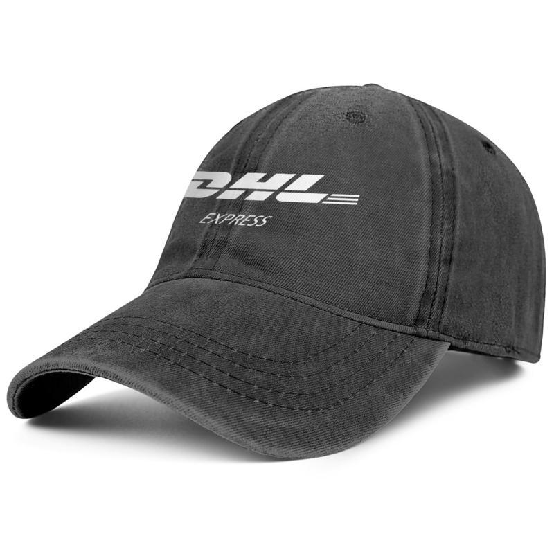 DHL Express Logo black mens and womens Denim Cap trucker cap baseball design fitted vintage hats Black
