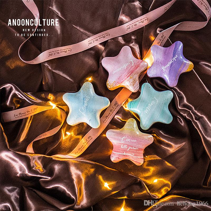 Star Shape Iron Candy Box Wedding Favors Party Gift Creative Ma Caron Color Hand Present Sweet Boxes 3 6flD1