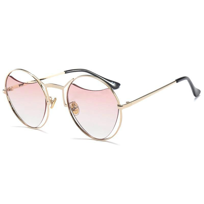 917ad05334e3c Xiacaier Hollow Round Heart Shape Sunglasses Women Brand Designer Fashion Metal  Frame Sun Glasses Vintage Mirror Shades Oculos Suncloud Sunglasses Foster  ...