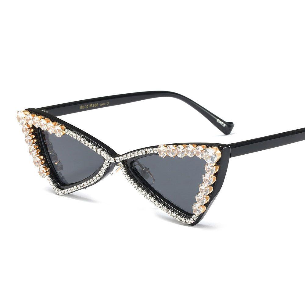 57406995de Compre Cateye Gafas De Sol Para Mujer Gafas De Sol De Diamante De ...
