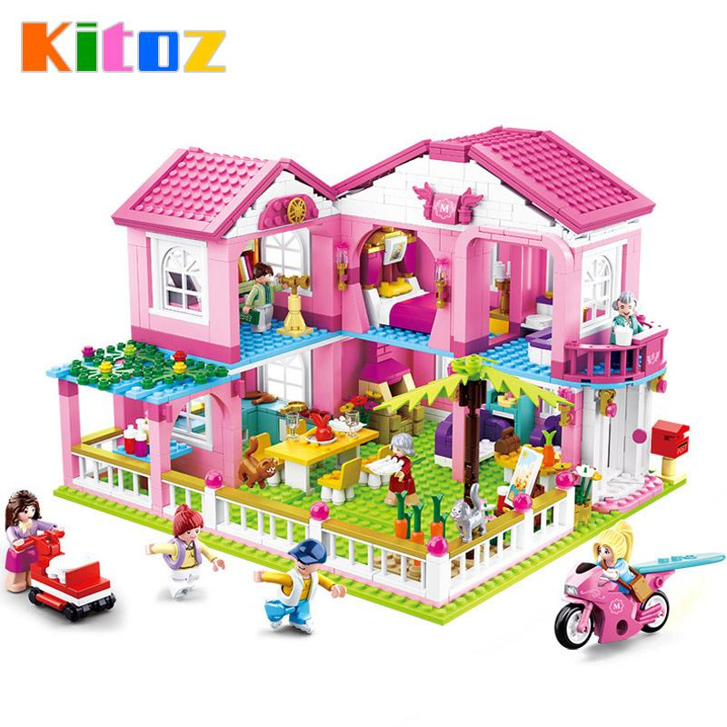 Kitoz Diy Dollhouse Miniature Small Room Box Doll House Home Villa