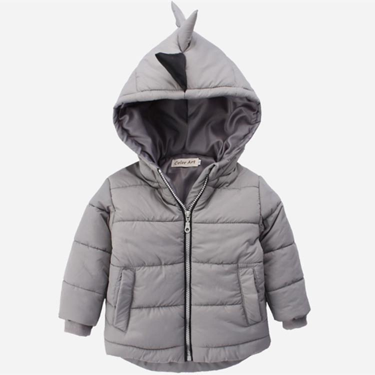 Dinosaur hiver vers le bas coton 3D capuche Vestes garçon chaud Vêtements épais Automne Veste d'hiver Middle School enfants garçons Manteaux d'enfants