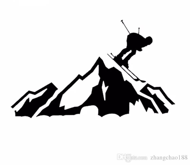 20*12CM Skier Racing Down the Mountain Car Decals Ski Slopes Vinyl Cut Decal Art Car Window Decor Car Stickers CA-1050