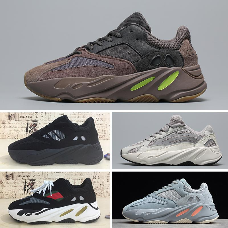 new styles f60b0 a21f4 Adidas YEEZY 700 V2 Static con caja 500 700 v2 Inercia Sal Zapatos para  correr Blush Static Wave Runner Mujeres Hombres Deporte Kanye West Mauve  Geode ...