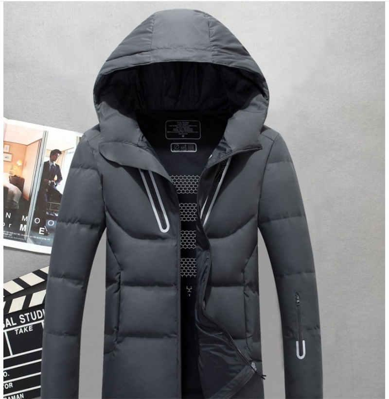 Man Thick Casual Hooded Down Coat Outerwear 2018 Men Hooded Winter Outdoor Duck Down Jacket Classic Mens Warm Jackets Parkas M-3XL