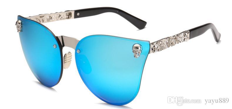 6d6c67cd7ac 2019 New luxury men and women couple polarized sunglasses new personality  Skull sunglasses hot style cat eye sunglasses
