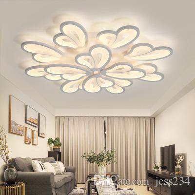 Modern Chandelier Led White Chandelier Lighting For Living Room Bedroom  Dining Room Surface mounted kroonluchter