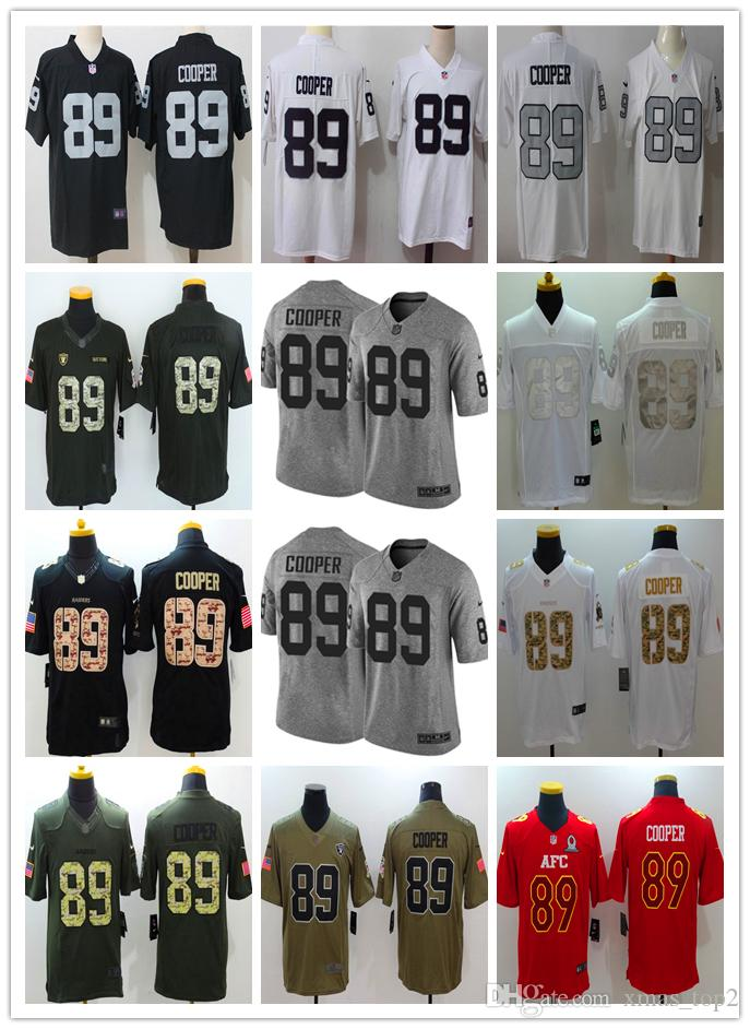 best website d036b 9c44b New Mens 89 Amari Cooper Jersey Oakland Raiders Football Jerseys 100%  Stitched Embroidery Raiders Amari Cooper Color Rush Football Shirt