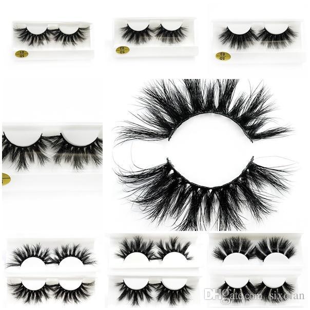 3abb91cd95a 2019 25mm 3D Mink Eyelashes Long Thick False Eyelashes 5D Mink ...