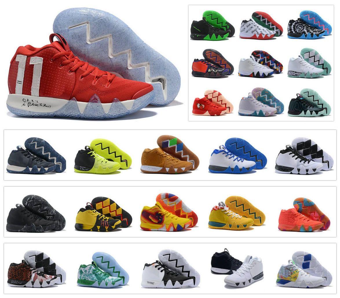100% authentic 57f06 1d134 Großhandel Heiße Mens Kyrie IV Basketballschuhe Zoom Halloween Irving Day  Of Dead 4 4S Ostern Sport Trainer Sneakers Größe US 7 12 Von Themaxshoes,  ...