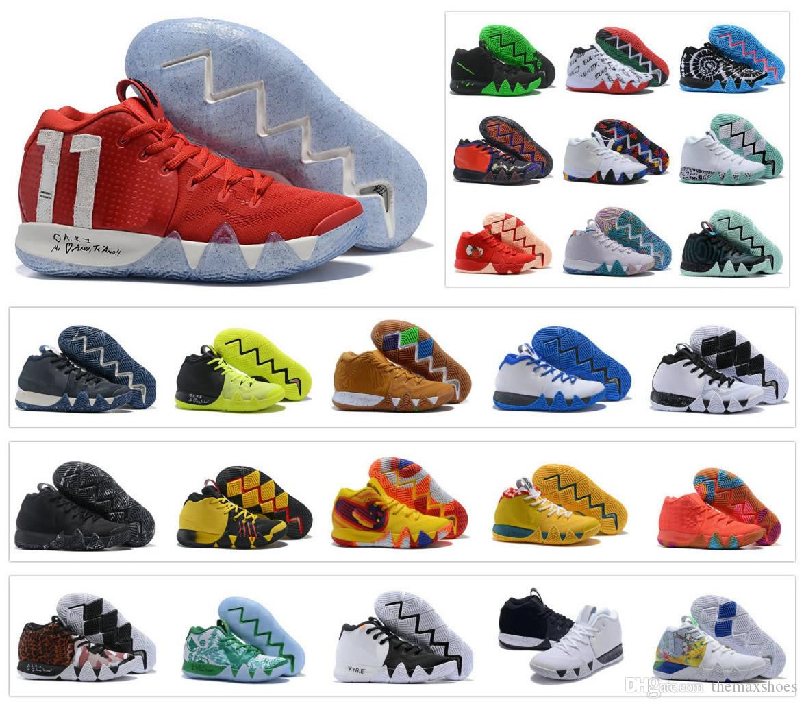 save off 6cbdf e164b Hot Mens Kyrie IV Basketball Shoes Zoom Halloween Irving Day of dead 4 4S  Easter Sport Trainers Sneakers Size US 7-12
