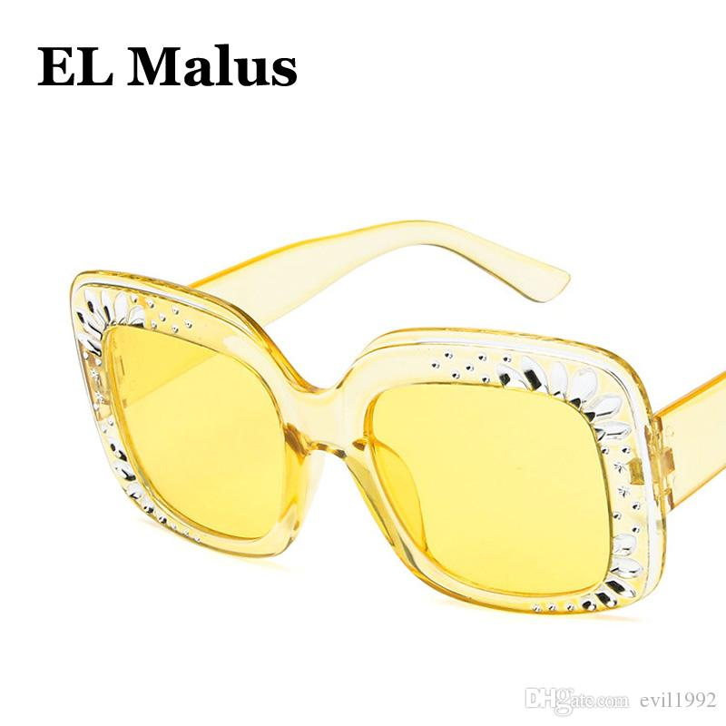 el Malus Back To Search Resultsapparel Accessories Men's Glasses square Frame Sunglasses Women Mens Dark Green Lens Gold Metal Shades Sexy Ladies Sun Glasses Brand Designer Oculos